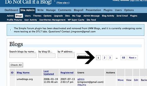 Site Admin-->Blogs navigation WPMu 1.3.3