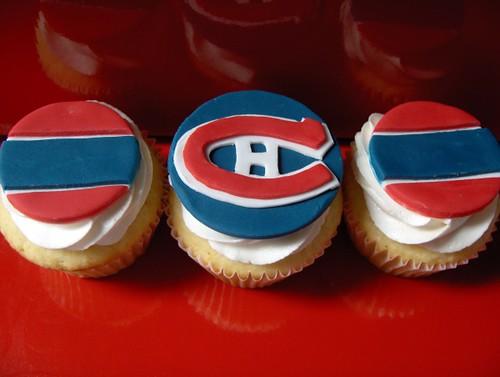 Montreal Canadiens Cupcakes - Go Habs Go!