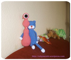 Amineko in Love (Ruby's World) Tags: pink blue crochet amigurumi amineko jayla