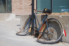 this is where i left my bike (that moment) Tags: bicycle rust crush velo rouille écraser
