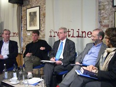 Panelists at New Media is Killing Journalism? debate