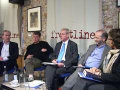Panelists at New Media is Killing Journalism? debate