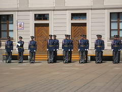 """Praga - Castello: Cambio della guardia • <a style=""""font-size:0.8em;"""" href=""""http://www.flickr.com/photos/62319355@N00/2484486200/"""" target=""""_blank"""">View on Flickr</a>"""