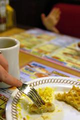 Breakfast for Dinner (julsatmidnight) Tags: portrait house selfportrait coffee breakfast night dinner self ga project georgia menus with little five fork athens latenight sp points eggs late 365 waffles waffle juls 365days aadon boycausingruckus
