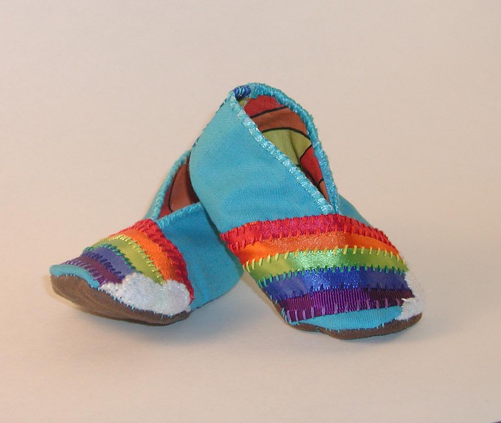 Rainbow Baby Bootie 3