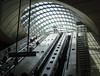 Canary Wharf Station (mapaolini) Tags: uk london station subway escalator tube transit wharf canary