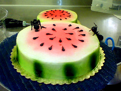 watermellon (DWRowan) Tags: food cakes misty fun picnic decorating ants watermellon