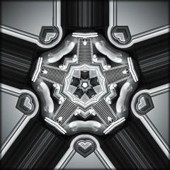 Classic Silver (Lyle58) Tags: abstract geometric circle kaleidoscope symmetry zen harmony reflective symmetrical balance circular kaleidoscopic kaleidoscopes kaleidoscopefun kaleidoscopesonly