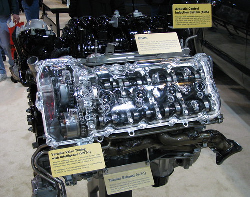 Tundra 5.7 engine cutaway photo