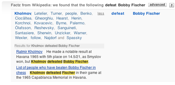 Who defeated Bobby Fischer
