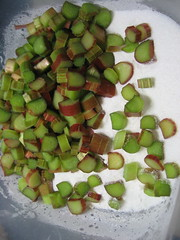 Rhubarb Pie Preparation