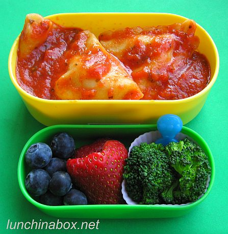 Ravioli bento lunch for preschooler