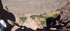 Looking down into the Bamyan valley
