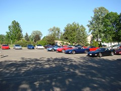 The Delta parking lot (redvette) Tags: corvette rivervalleyvettes redvette tomhiltz
