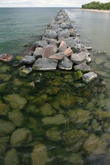 Breakwater, Centre Island, Toronto (Tony Lea) Tags: trip opportunity lake toronto ontario canada green beach water ferry island happy pier rocks day waves seagull centre tony enjoy poop lea anthony guano breakwater centreisland torontoislands torontowaterfront abigfave aplusphoto tonylea anthonylea