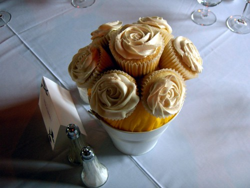 Wedding Cupcake Centerpiece