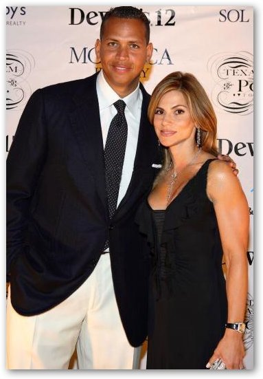Cynthia Scurtis Rodriguez Poses with Alex Rodriguez