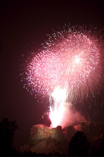 mount rushmore fireworks 2008