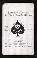 MY KILL CARD (eks4003) Tags: usmc cards war kill vietnam marines 1970 nam grunts callingcard killcard