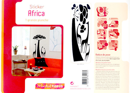 stickers AFRICA pour MONDIAL TISSUS