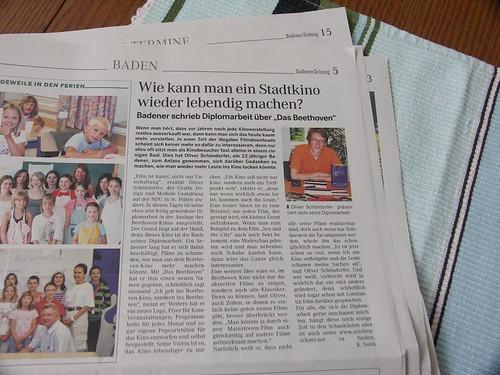 Die Diplomarbeit in der Badener Zeitung