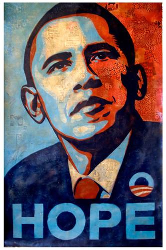 Cartaz em Leilão, por Shepard Fairey
