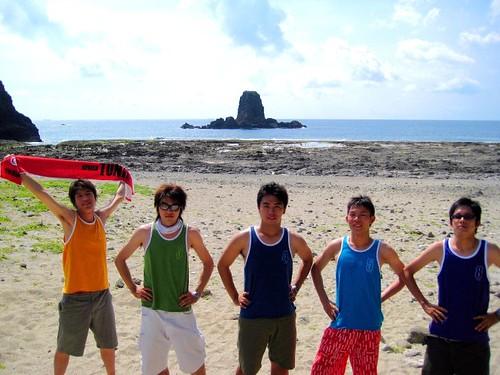 你拍攝的 1.綠島柚子湖 - 陽光彩虹5男孩。
