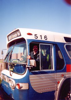 Eddie K on an April 2000 bus fans charter in Kenosha Wisconsin..