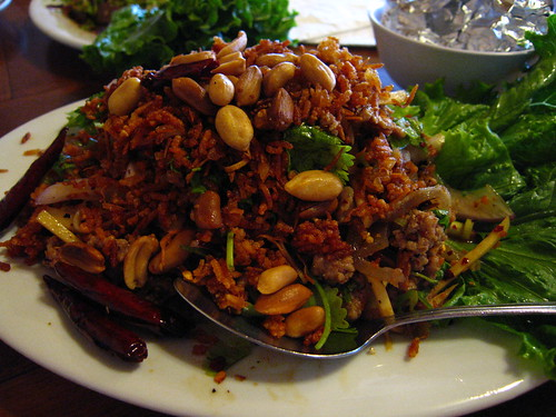 Nam Khao Tod (Crispy rice salad)