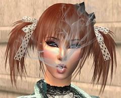 Smoke (Nehellenia) Tags: 2 woman baby girl beautiful female donna code punk image sweet smoke emo goth carina babe bella prock sims ragazza fumo sigaretta immagine fiocchi gotica femmina codine