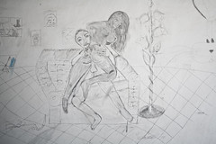 Malattia Mentale / Mental Desease (Reportergimmi) Tags: woman black muro bunny sketch fuck shag disegni cazzo pornografia matita disegno nera maiale pazzo coniglio porco shagging casaabbandonata assassino naif coito malato trombare scopare amplesso deflorata