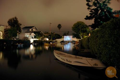 venice canals movie night