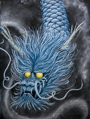 Dragon thing Painting (.drew (Andrew Kelly)) Tags: blue painting japanese scotland acrylic dragon chinese drew dragons aberdeen myth andrewkelly