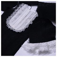 W.I.P. (Roberta Romagnoli / wererabbit) Tags: white black doll dress linen lace sewing workinprogress wip blythe wererabbit