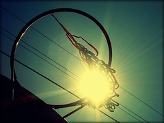Old Basketball Hoop (Ekler) Tags: old school sky sun basketball digital hoop wire shine object cable explore basketballhoop ekler oldschooldigital theperfectphotographer olympusfe280 seenonflickr goldenmasterpiece soloha