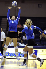 0881_BRI_A_vballCCSU_8660 (newspaper_guy Mike Orazzi) Tags: sports action 85mm ct volleyball athlete bluedevils indoorsports ccsu d300 newbritain collegesports girlsvolleyball 85mmf18af centralconnecticutstateuniversity