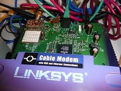 リンクシス(Linksys)社の ケーブル・モデム「BEFCMU10」の全容