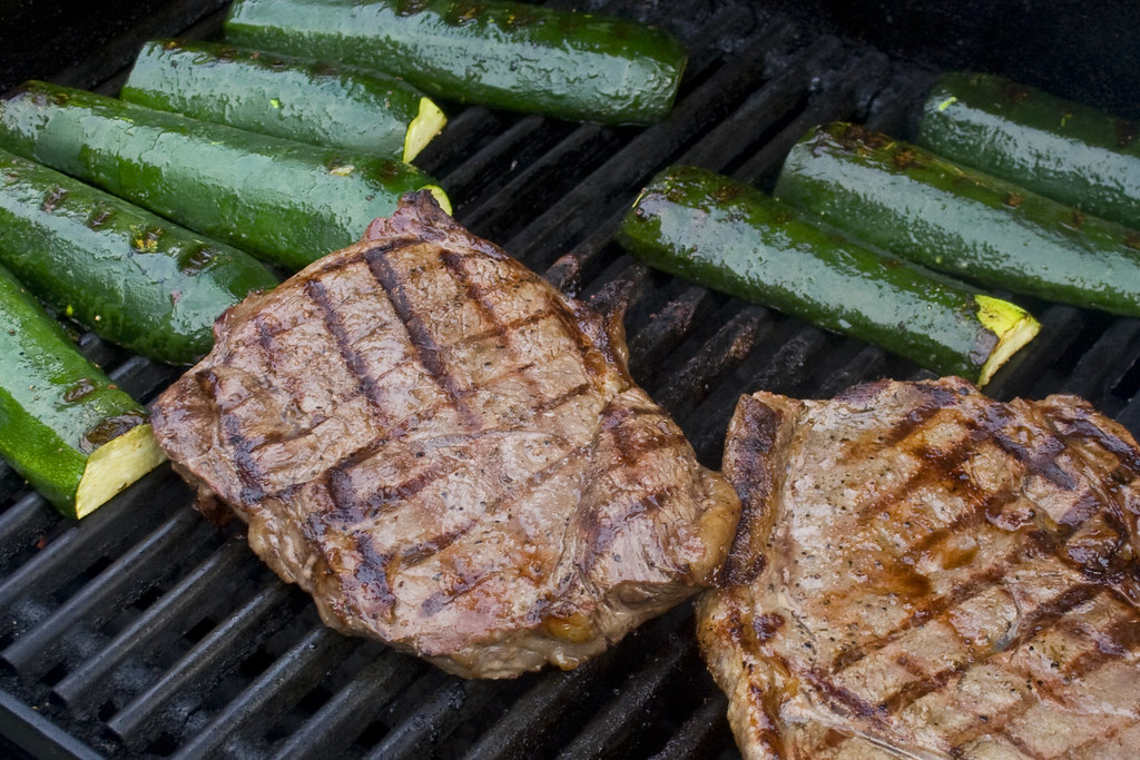 grilled steaks and zucchini by woodleywonderworks, on Flickr