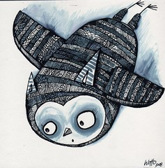 007 (WOTTO*) Tags: bird illustration eyes flight owl wotto