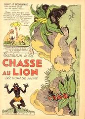 chasse au lion