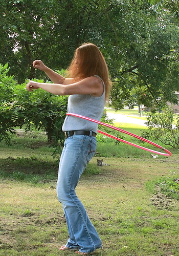 Adventures in Hula-Hooping: I gave the neighbors a REAL treat today.......