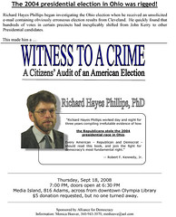 Richard Hayes Phillips Witness to a Crime Olympia WA Flyer