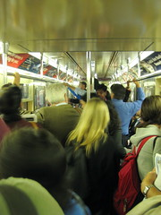 Busy Rush Hour Train - New York Subway