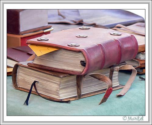 Libros de cuero por CUEVA2008.