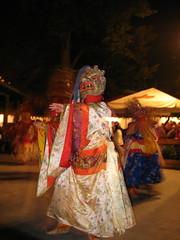 Wrathful Dance (brandimford) Tags: nyc dance bhutan buddhist masks spinning sword astoria prayerflags beergarden wrath cham amitabha vairocana bohemianhall skullcup akshobya amoghasiddhi ratnasambhava