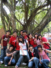 Group pic at the park between the lecture hall & lab