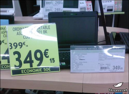 EeePC 901 à 349€
