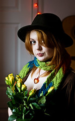 i am the doctor (Potatojunkie) Tags: flowers portrait hat scarf doctorwho fi tombaker