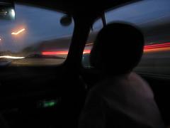 FIAT 500の車窓:夜の高速