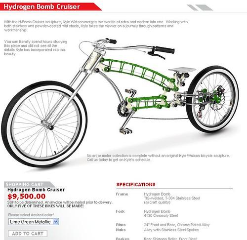 $9,500 cruiser bike